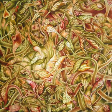 """10 September 2014"" Watercolor 85 x 85 cm"