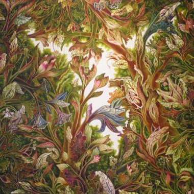 """February 2008"" Watercolor 110 x 110 cm"