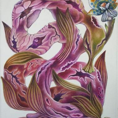 """Intestine1, 2006"" 32 x 42 cm"