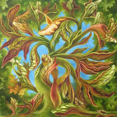 """21 June 2008"" Watercolor 55 x 55 cm"