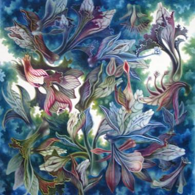 """8 December 2007"" Watercolor 55 x 55 cm"