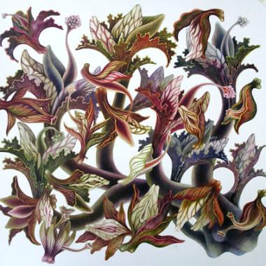 """November 2007"" Watercolor 55 x 55 cm"